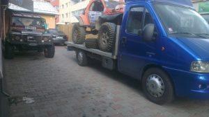 Transport autoturism pregatit pentru off road Cluj