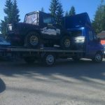 Transport auto offroad